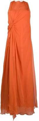 Alberta Ferretti Draped Crepe Gown
