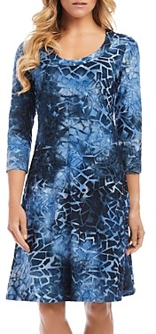 Karen Kane Tie Dyed A-Line Dress