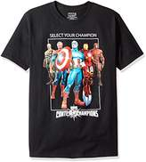 Marvel Men's Select Your Champion Short Sleeve T-Shirt