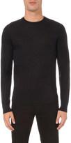 Armani Jeans Square-jacquard wool jumper