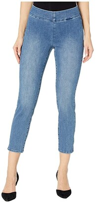 NYDJ Petite Petite Pull-On Skinny Ankle Jeans in Clean Brickell (Clean Brickell) Women's Jeans