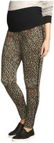Urban MA Belly Support Contrast Piped Printed Pants - Print-X-Large