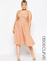 Asos Fit & Flare Dress With Lace