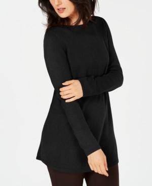 Karen Scott Solid Curved-Hem Tunic Sweater, Created for Macy's