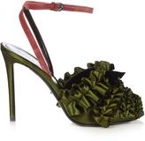 Marco De Vincenzo Ruffled satin high-heel sandals