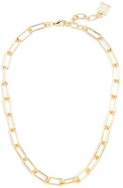 "Zenzii Gold-Tone Chain-Link Collar Necklace, 17"" + 2"" extender"