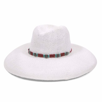 Ale By Alessandra Women's Larimar Sunhat in White Adjustable