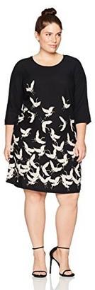 Junarose Women's Plus Size Zeenan Long Sleeve Dress