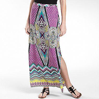 JCPenney Bisou Bisou® Side Slit Maxi Skirt