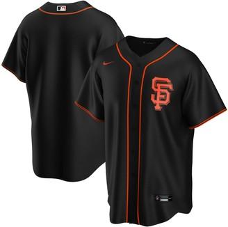 Nike Men's Black San Francisco Giants Alternate 2020 Replica Team Jersey