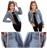 Prime Ladies Denim Jacket Datachable Hood (, M)