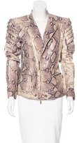 Just Cavalli Embossed Moto Jacket