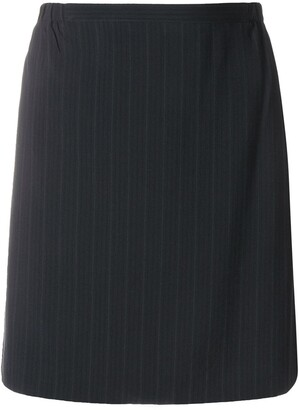 Giorgio Armani Pre-Owned Pinstripe Short Skirt
