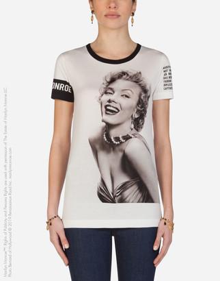 Dolce & Gabbana Jersey T-Shirt With Marilyn Monroe Print