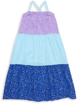 Design History Little Girl's Colorblock Floral Dress