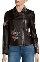 Bagatelle Floral Print Moto Jacket