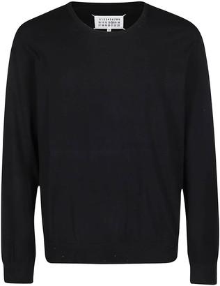 Maison Margiela Black Cotton-cashmere Blend Jumper