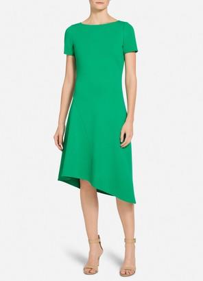 St. John Luxe Knit Asymmetric Hem Dress