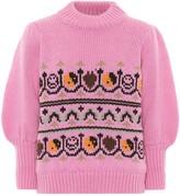 Ganni Wool and alpaca jacquard sweater