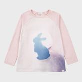 Paul Smith Girls' 2-6 Years Pink Moon Rabbit Print 'Martha' Top