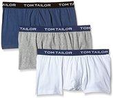 Tom Tailor Men's Plain Trunks Blue Blau (melange-denim-white 9310)