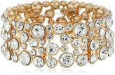 """GUESS Basic"""" and Crystal Stone Stretch Bracelet"""
