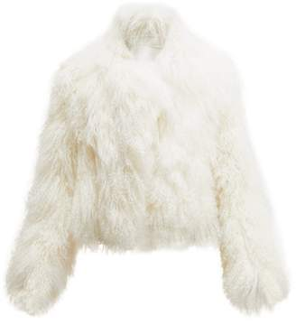 Ann Demeulemeester Lisa Reversible Shearling Coat - Womens - Ivory