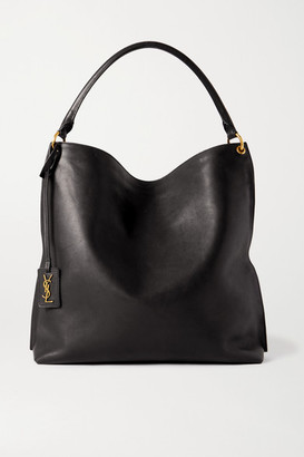 Saint Laurent Tag Leather Tote - Black