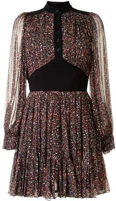 Karen Walker Lily floral-print silk dress