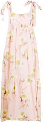 P.A.R.O.S.H. Rose Print Tiered Dress