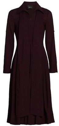 Akris Collared Wool Scarf Dress