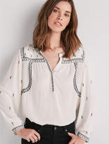 Lucky Brand White Embroidered Top