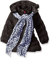 Pink Platinum Big Girls' Long Puffer Jacket with Accessories