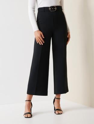 Forever New Nadine Belted Culotte Pants - Black - 10