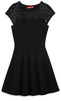 Aqua Girls' Lace-Sleeve Dress, Big Kid - 100% Exclusive