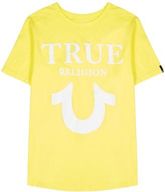 True Religion Yellow logo-print cotton T-shirt