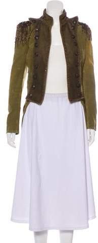 Balmain Embellished High-Low Jacket