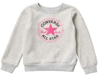 Converse Logo Front Pullover Sweatshirt (Big Girls)