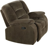 Asstd National Brand Higgins Padded Velvet Glider Recliner