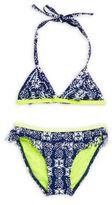 Snapper Rock Little Girl's Fringed Floral Two-Piece Bikini Top & Bottom Set