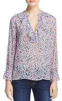Paige Fauna Floral-Print Silk Top