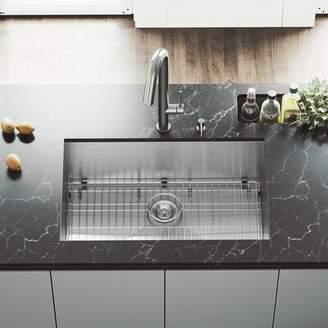 """Ludlow VIGO 30"""" L x 19"""" W Undermount Kitchen Sink with Faucet VIGO"""