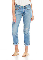 Levi's 501 Taper Destructed Rolled Cuff Jeans