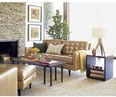 Crate & Barrel Petrie Leather Apartment Sofa