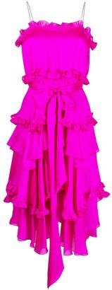 Alexandre Vauthier Ruffle-Detail Spaghetti-Strap Dress