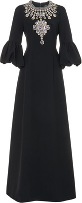 Andrew Gn Crystal-Embellished Crepe Gown