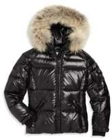 SAM. Girl's Blake Fur-Trim Down Puffer Jacket