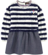 Catimini Bi-material sweater dress