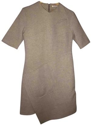 Carven Khaki Wool Dresses