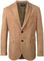 Neil Barrett leather blazer - men - Lamb Skin/Cupro - M